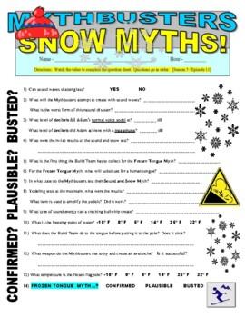 Mythbusters : Snow Myths (video worksheet)
