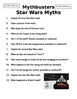 Mythbusters Star Wars Episode
