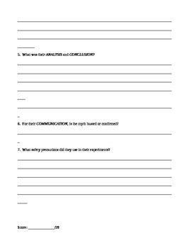 Worksheets Mythbusters Scientific Method Worksheet mythbusters worksheet that by lucas smith teachers pay covers the scientific method