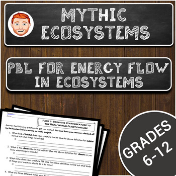 Mythic Ecosystems- PBL for Energy Flow in Ecosystems