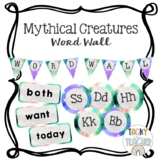 Mythical Creatures {Editable} Watercolor Word Wall Bundle