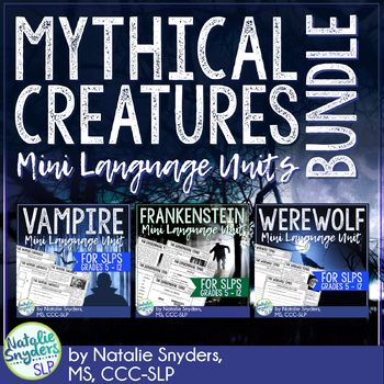 Mythical Creatures Mini Language Unit Bundle