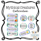 Mythical Creatures Watercolor Classroom Calendar