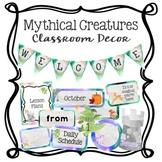 Mythical Creatures Watercolor Classroom Decor Bundle