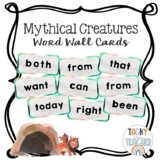 Mythical Creatures Watercolor Word Wall Cards - Dolch & Fr