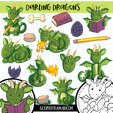 Mythical Dragons Clip Art Collection