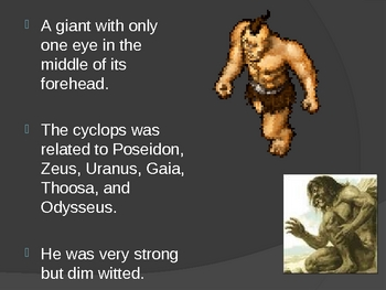 Greek Mythology Ferocious Monsters Power Point