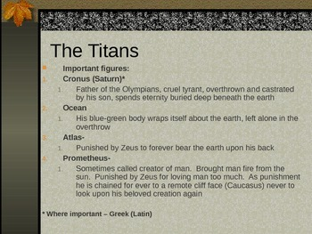 Mythological Allusions- PPT