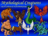 Mythological Creatures Clip Art Collection- Blackline and Color-Commercial Use