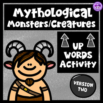 """Mythological Creatures/Monsters """"Up-Words"""" Activity (Version Two)"""