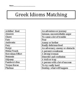 Mythological Greek Idioms