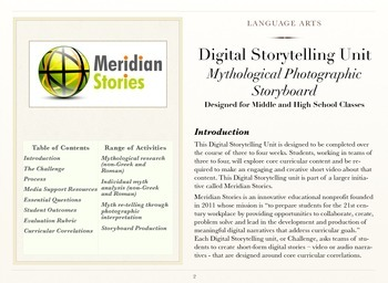 Mythological Photographic Storyboard - Digital Storytelling