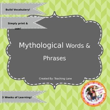 Mythological Words & Phrases