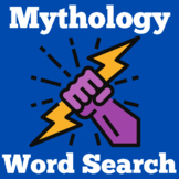 Greek Mythology    Worksheet Activity   Myths   Word Search