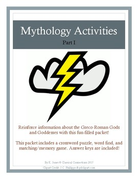 Mythology Activities Packet: Part I