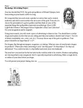 Mythology Advertising Project