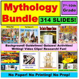 Mythology Unit Bundle:  Paperless, No Prep