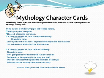 Mythology Character Trading Cards