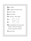 Mythology Characteristics Mini-Poster for Literacy