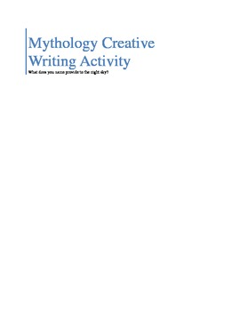 Mythology Creative Writing