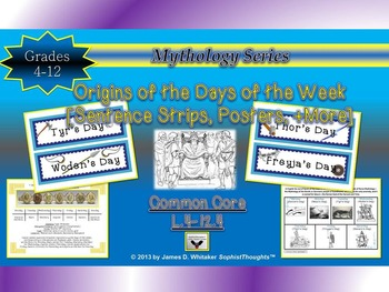 Mythology Etymological Origins of the Days of the Week & Planets