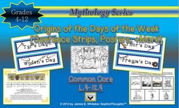Mythology Etymological Origins of the Days of the Week Pos