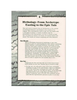Mythology: From Archetype-Casting to the Epic Tale