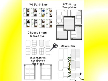 Mythology Greek & Roman Interactive Mini Research Fold-Ems Bundle