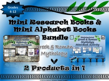 Mythology Greek & Roman Research Mini Books & Alphabet Book