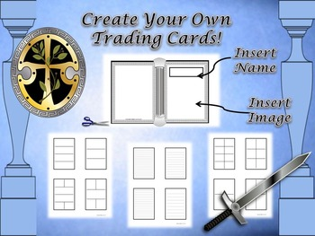 Mythology Greek & Roman Trading Card Fold-Ems Activity