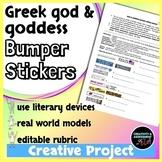 Greek Mythology Project: god and goddess Bumper Stickers