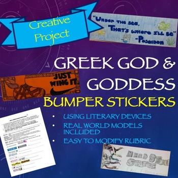 Greek mythology project god and goddess bumper stickers