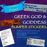Greek Mythology Project: god and goddess Bumper Stickers