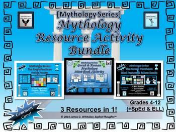 Mythology Greek and Roman Resource Activity Bundle Common Core
