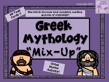"""Mythology """"Mix-Up"""" Task Cards"""