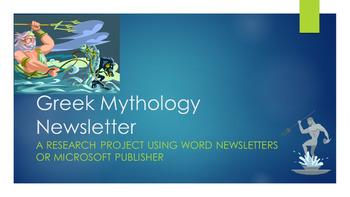 Mythology Research Newsletter