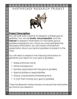 Mythology Research Project
