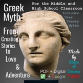 Mythology Series: From Creation Stories to Love & Adventure (Bundled Unit)