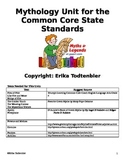 Mythology Unit for the Fourth Grade Common Core State Standards