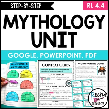 Mythology Unit with Differentiated Passages, Context Clues and Allusions