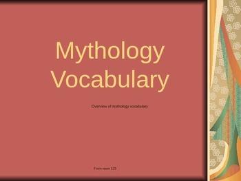Mythology Vocabulary PowerPoint