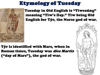 Mythology of the Days of the Week PowerPoint - Solar System PPT