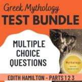 Mythology by Edith Hamilton Parts 1-3 Test bundle 140 multiple choice questions