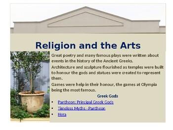 Mythology of Greece and Rome: a webquest