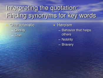 Mythology/Hero Critical Lens PowerPoint