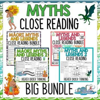 Myths and Legends Reading Comprehension Passages BIG BUNDLE