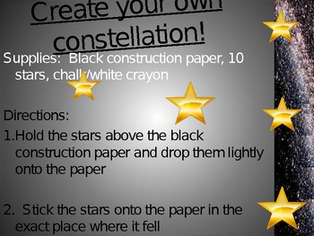 Myths & Constellations Creative Writing Science Space Stars PowerPoint