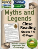 Close Reading Myths and Legends - Print and Digital Versions - Distance Learning