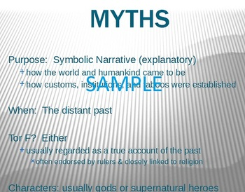 Myths, Legends, Fables