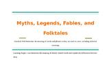Myths, Legends, Fables, and Folktales PPT